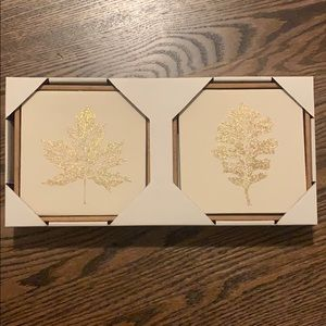 Other - 2 pack leaf wall art
